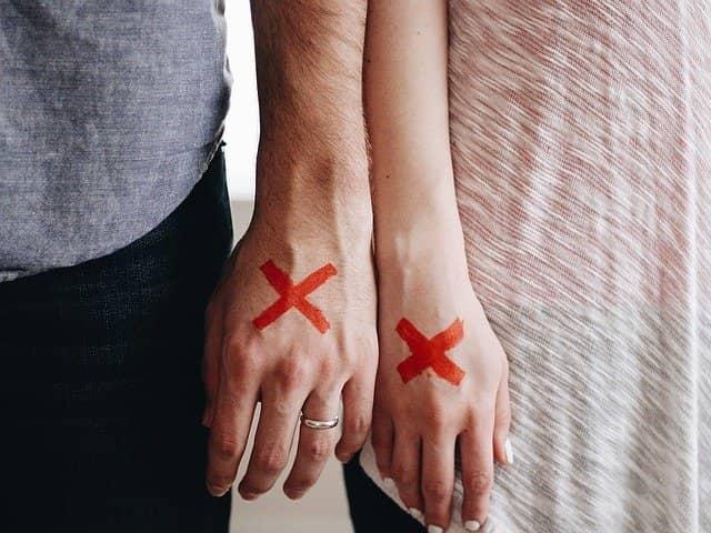 Rozchod a rozvod může být bolestný.