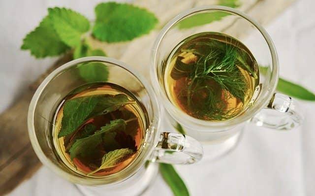 Očista jater je spojena s pitím bylinných čajů.