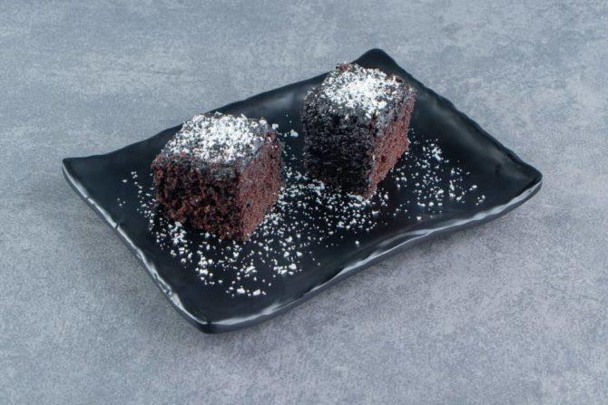 Brownie s datlovým sirupem jsou plné vlákniny.