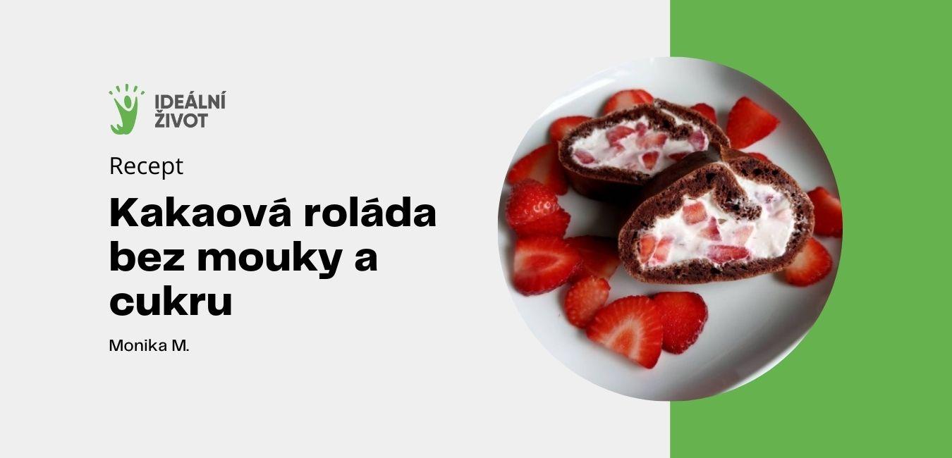 kakaová roláda bez mouky a cukru